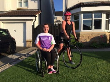 Clackmannanshire Mum Inspired by Daughter as she Tackles Charity Triathlon