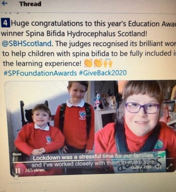 SBH Scotland win the Scottish Power Education Award