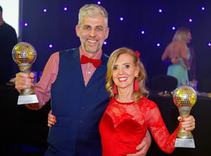 the 2018 winners of SBH Scotland's Strictly Come Prancing holding their awards