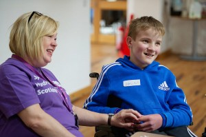SBH Scotland support worker, Linda pictured with an SBH Scotland member