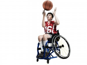 Wheelchair Basketball Player taking part in the 2.6 challenge